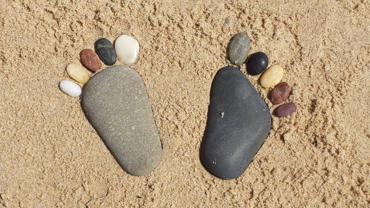 droge-voeten